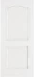Smooth Skin Doors - Smooth Fiberglass No Glass - Smooth Two Panel with Arch Panel