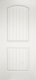 Smooth Skin Doors - Smooth Fiberglass No Glass - Cottage-Two Panel with Arch Panel Plank