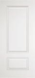 Smooth Skin Doors - Smooth Fiberglass No Glass - Two Panel Square Top Smooth Fiberglass