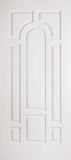 Smooth Skin Doors - Smooth Fiberglass No Glass - 8 Panel Center Arch
