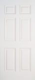 Smooth Skin Doors - Smooth Fiberglass No Glass - 6 Panel Smooth Fiberglass