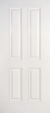 Smooth Skin Doors - Smooth Fiberglass No Glass - True Four Panel Smooth Fiberglass