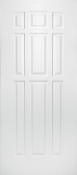Smooth Skin Doors - Smooth Fiberglass No Glass - Nine Panel Smooth Fiberglass