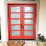 Textured Fiberglass French Double Door - Image 4