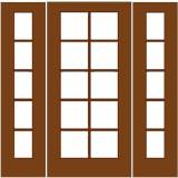 French Wood Doors - French Door 10 / 5 - Wood French Door 10/5 with 2 sidelights