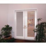 French Doors with Miniblinds