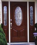 Entry Prehung Oval Deluxe Door with 2 Sidelights - Image 2