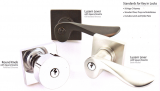 Hardware - Modern Bronze Keyed Lockset