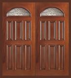 Wood Entry Doors - Entry Prehung Eye Brow Wood Door - Entry Prehung Eye Brow Double Wood Door