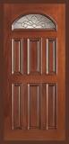 Wood Entry Doors - Entry Prehung Eye Brow Wood Door - Entry Prehung Eye Brow Wood Door