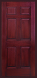 6 panel door mahogany