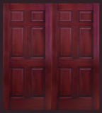 Other Doors - Entry Prehung 6 Panel Textured Fiberglass Door - Entry Prehung 6 Panel Textured Fiberglass Double Door