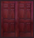 . - Entry Prehung 6 Panel Textured Fiberglass Door - Entry Prehung 6 Panel Textured Fiberglass Double Door