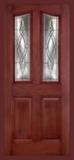 . - Entry Prehung 6/8 Eyebrow Mahogany Fiberglass Door - Entry Prehung Eyebrow Mahogany Single Fiberglass Door