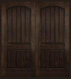Rustic Fiberglass - Entry Prehung Arch Plank Square Top Rustic Fiberglass Door - Entry Prehung Arch Plank Square Top Rustic Fiberglass Double Door