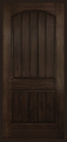 Arch Plank Square Top Rustic Single Door