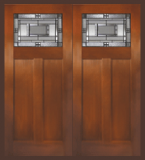 Textured Fir Grain - Entry Prehung Craftsman Fiberglass Door - Entry Prehung Craftsman Fiberglass Double Door