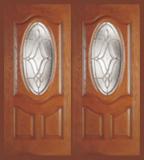 Entry Prehung Oval Deluxe Fiberglass Double Door