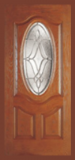 Textured Oak Grain - Entry Prehung Oval Deluxe Fiberglass Door - Entry Prehung Oval Deluxe Fiberglass Door