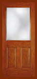 Doors - Other Doors - Entry Prehung Onelight Flush Glazed Fiberglass Door