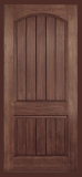 Doors - . - Wood Grain Rustic  Two Panel w/ Arch