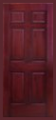Doors - Other Doors - Entry Prehung 6 Panel Textured Fiberglass Door