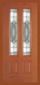 Doors - Other Doors - Entry Prehung Vertical Decorated Glass Fiberglass Door