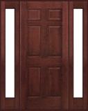 . - Entry Prehung 6 Panel Textured Fiberglass Door - Entry Prehung 6 Panel Textured Fiberglass Door with 2 Sidelights