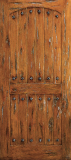Doors - Wood Entry Doors - Western Plank Wood Door with Arched Top