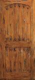 Doors - Wood Entry Doors - Western Plank Wood Door with Arched Top