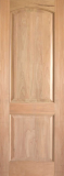 Wood Entry Doors - Interior Doors - Interior Rustic 2 Panel Wood Door