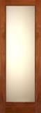 Doors - Wood Entry Doors - Decorative White Lami Glass Door