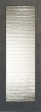 Doors - Wood Entry Doors - Decorative Small Wave Glass Door