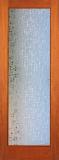 Doors - Wood Entry Doors - Decorative Contempo Glass Door