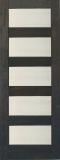 Wood Entry Doors - Interior Doors - Interior Matte Line Glass Door