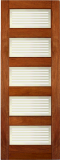 Wood Entry Doors - Interior Doors - Interior Matte Bars Door