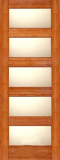 Wood Entry Doors - Interior Doors - Interior Bamboo Matte Glass Door