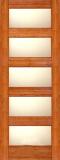 Wood Entry Doors - Interior Doors - Interior Bamboo Matte Glass Door