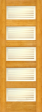 Wood Entry Doors - Interior Doors - Interior Bamboo Matte Bars Door