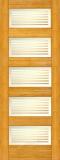 Wood Entry Doors - Interior Doors - Interior Bamboo Matte Bars Door