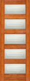 Wood Entry Doors - Interior Doors - Interior Bamboo Matte Square Door