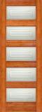 Wood Entry Doors - Interior Doors - Interior Bamboo Matte Square Door
