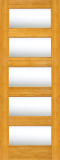 Wood Entry Doors - Interior Doors - Interior Bamboo Clear Glass Door
