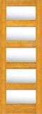 Wood Entry Doors - Interior Doors - Interior Bamboo Clear Glass Door