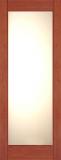 Wood Entry Doors - Interior Doors - Interior Bamboo White Lami Glass Door