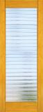 Wood Entry Doors - Interior Doors - Interior Bamboo Deco Bars Glass Door