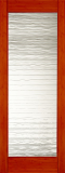 Wood Entry Doors - Interior Doors - Interior Bamboo Small Wave Glass Door