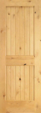 Wood Entry Doors - Interior Doors - Interior Plank Knotty Alder Wood Door