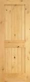 Wood Entry Doors - Interior Doors - Interior Plank Knotty Alder Wood Door