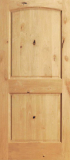 Wood Entry Doors - Interior Doors - Interior 2 Panel Knotty Alder Wood Door